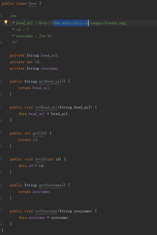 自动生成JavaBean