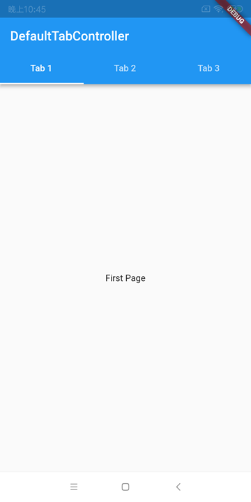 Flutter Widget DefaultTabController