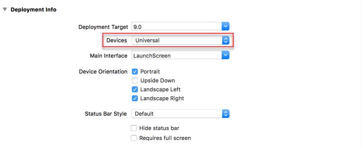 Xcode配置支持平板